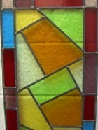 Stained glass abstract design