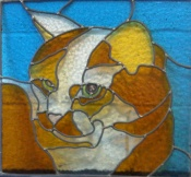 Stained glass cat design