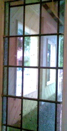 Stained glass porch door