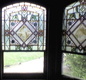 Set of three stained glass windows