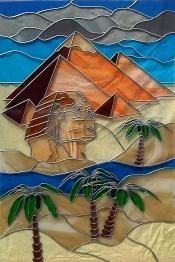 Customised glass design - Egyptian theme